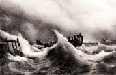 Marine art - Storm in Coasts of Brittany