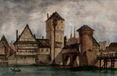 View of Nuremberg - Weinstadel mit Henkersteg (Germany)