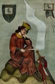 Portrait of Walther von der Vogelweide (1170-1230) - Codex Manesse