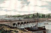 View of Nevers (Ni�vre - France) - Aqueduct - Allier