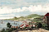 View of Saint-Pierre (Martinique - France) - Antilles