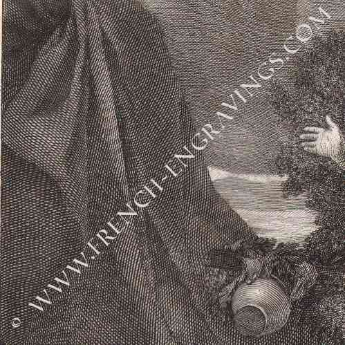 gravures anciennes nu artistique femme endormie g rard lairesse gravure en taille douce. Black Bedroom Furniture Sets. Home Design Ideas