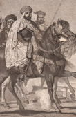 Ali-Ben-Hamet, Caliph of Constantinople and his escort (Th�odore Chass�riau)