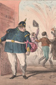 Caricature - Occupation of Luxembourg by the Prussian Army (Alfred Darjou)