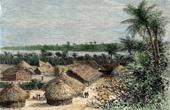 Afrika - Sikte av Ou-djidji (Tanzania)