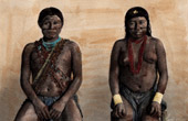 Portrait of Man and Woman Kali'na - Ethnic group - Aboriginal peoples (South America)
