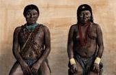Portr�t von Mann und Frau Kali'na - Ethnische Gruppe - Amerindiens (S�damerika)