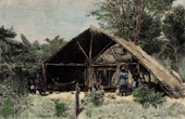 Dwelling of Galibi Indians - Aboriginal peoples - Maroni River