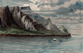 Antique print - View of Tristan da Cunha Island - Archipelago (British Overseas Territories)
