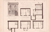 Drawing of Architect - Paris - House (Mr Jules Cacheux - N. Gateuil & Daviet)