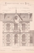 Drawing of Architect - Paris - House (Mr C. Daviet - N. Gateuil & Daviet)