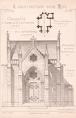 Drawing of Architect - Grosbreuil - Vendée - Castle - Château de la Bénatonnière - Chapel (Mr Guillerot - Gateuil & Daviet)