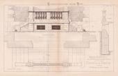 Drawing of Architect - Pougues-les-Eaux - Ni�vre - House - Maison de Mme Fr�bault de Montlouis (Mr Menuel)