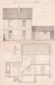 Drawing of Architect - Noisiel - Seine-et-Marne - Cit� Ouvri�re - Usine M�nier - House (Gateuil & Daviet)