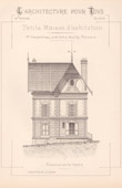 Drawing of Architect - Neuilly-Plaisance - House - Petite Maison d'Habitation (Mr Charpentreau Architecte)