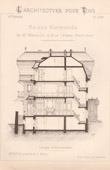 Drawing of Architect - Nice - Maison Normande de Mr Masselin (Mr Joliet Architecte)
