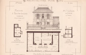 Drawing of Architect - Paris - House - Maison à Rez-de-Chaussée (Mr Jules Cacheux Architecte)