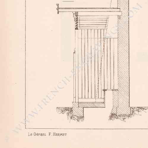 gravures anciennes gravure de dessin d 39 architecte roubaix institut s vign cabinet d. Black Bedroom Furniture Sets. Home Design Ideas