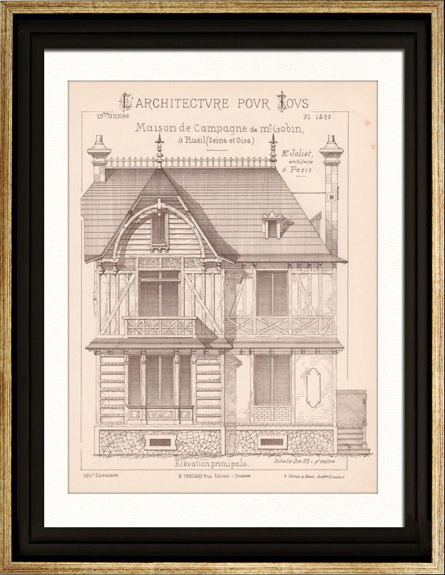 gravures anciennes gravures de la malmaison. Black Bedroom Furniture Sets. Home Design Ideas