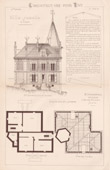 Drawing of Architect - Neuilly-Plaisance - House - Villa Jumelle à Loyer (Mr Charpentreau Architecte)