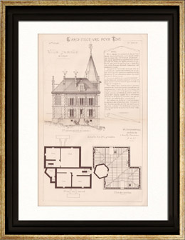 Drawing of Architect - Neuilly-Plaisance - House - Villa Jumelle � Loyer (Mr Charpentreau Architecte)