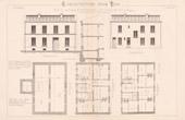 Drawing of Architect - Paris - 7 Cit� Pelport - House - Petite Maison d'Habitation