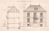 Drawing of Architect - Neuilly-Plaisance - House - Maison d'Habitation de Mr Desbleds (Mr Charpentreau Architecte)
