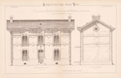 Drawing of Architect - House - Maison d'Habitation (Mr Robin Architecte)