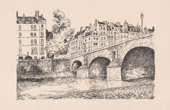 View of Paris - Île Saint-Louis - Seine - Pont Marie - Historic Monument
