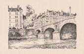 View of Paris - �le Saint-Louis - Seine - Pont Marie - Historic Monument