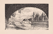 View of Paris - �le de la Cit� - Courthouse - Palais de justice - Seine - Conciergerie