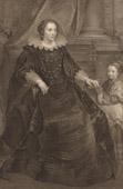 Fl�misch Malerei - Portr�t von eine Dame und ihre Tochter (Van Dyck)