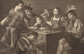 French painting - Concert - Musical Instruments (Valentin)