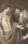 Stich von Flämisch Malerei - Der Ungläubige von Apostel Thomas (Rubens)
