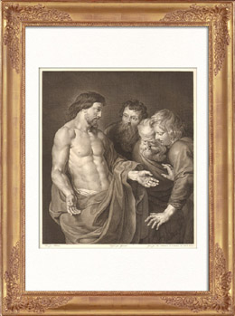 Fl�misch Malerei - Der Ungl�ubige von Apostel Thomas (Rubens)