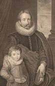 Fl�misch Malerei - Portr�t von Guillaume Richardot und sein Sohn (Anthonis van Dyck)