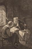 Dutch painting - Portrait of his Family (Gerrit Dou)