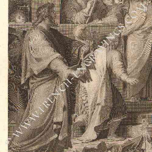 Stampe antiche stampa di pittura francese san paolo for Stampe di campagna francese