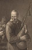 Fl�misch Malerei - The Bagpiper - Sackpfeifer (David Teniers le Jeune)