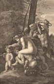 French painting - Faun - Satyr - Hamadryad (Nicolas Poussin)