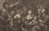 Fl�misch Malerei - Das Fest des Bohnenk�nigs (Jacob Jordaens)