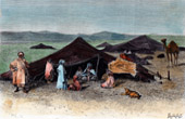 View of Sahara - Desert - Africa - Tuareg - Pastoral nomads - Camels