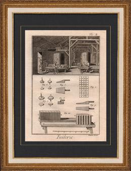 Arkitektur - 1779 - Fabriks av bel�gger med Taktegel