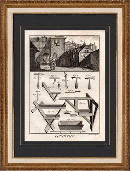 Architektur - 1779 - Dachdecker - Handwerker