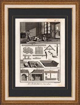 Architektur - 1779 - Fliesenleger - Fliesen - Handwerker