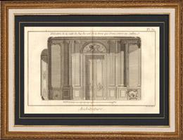 antique prints print of architecture 1779 architect. Black Bedroom Furniture Sets. Home Design Ideas