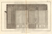 Architecture - 1779 - Architect's Drawing - Palais-Royal in Paris - Hearth