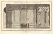 Architecture - 1779 - Architect's Drawing - Palais-Royal in Paris - Chambre de Parade