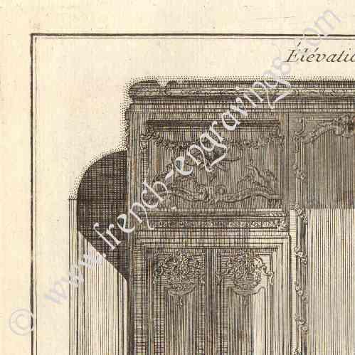 Gravures anciennes architecture 1779 dessin d for Chambre de parade
