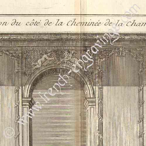 Antique prints print of architecture 1779 architect for Chambre de parade